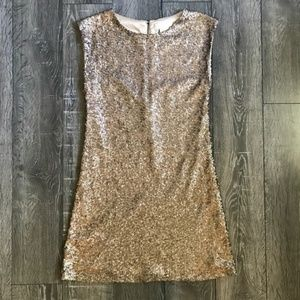 Miss Me Dresses - Miss Me Couture Gold Sequin Mini Dress